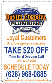 Web Coupon: Loyal Customers Take $20 OFF Your Next Service Call of $100 or more.